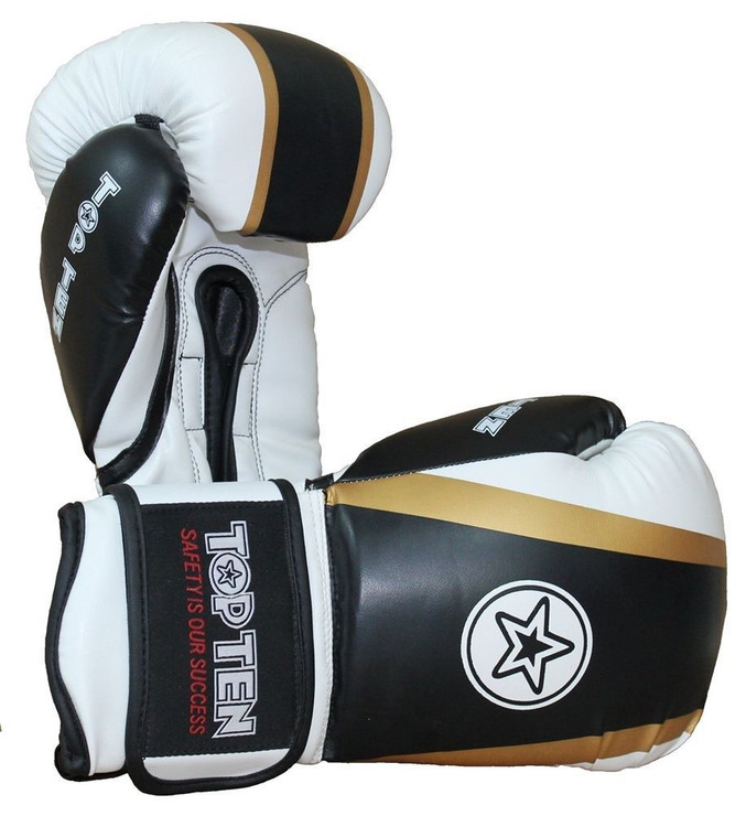 Top Ten Star Boxing Gloves Black/Gold