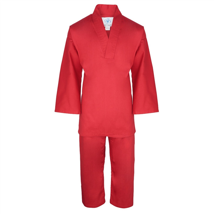 Bytomic Kids V-Neck Uniform Red