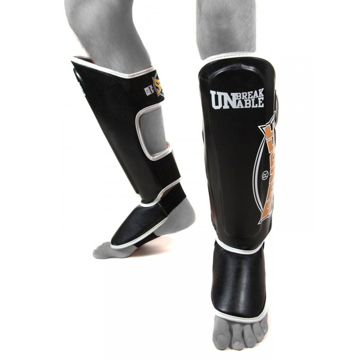 Sandee CoolTec Adult Leather Shin Guards