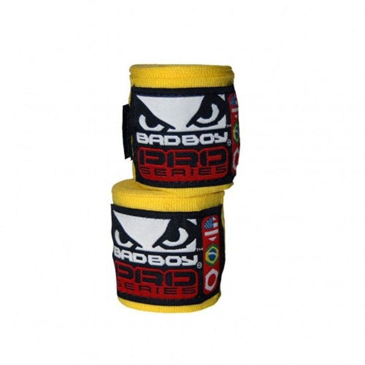 Bad Boy Hand Wraps 3.5m Stretch Yellow