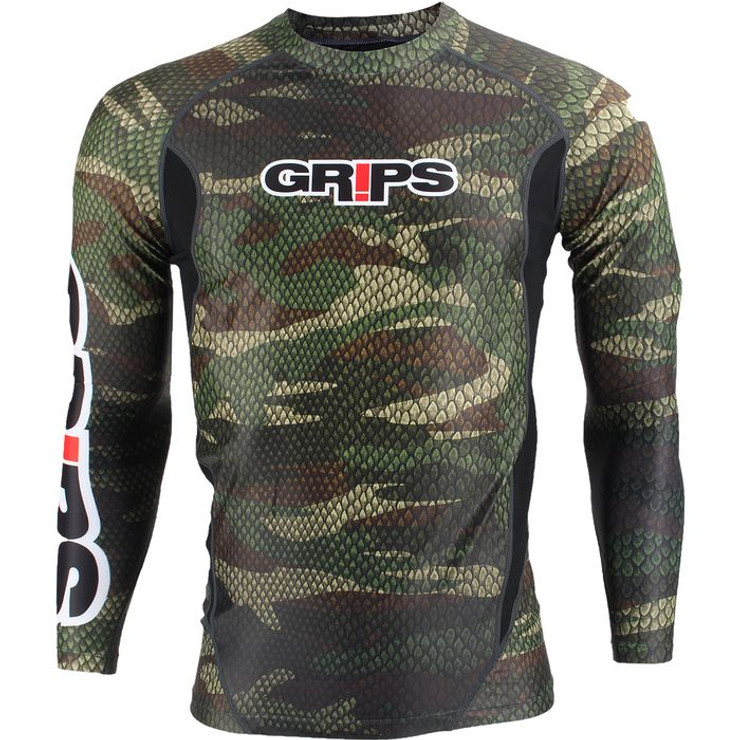 Grips Athletics Snake Long Sleeve Mens Rash Guard