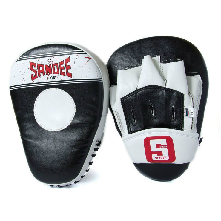 Sandee Sport Curved Focus Mitts Black/White