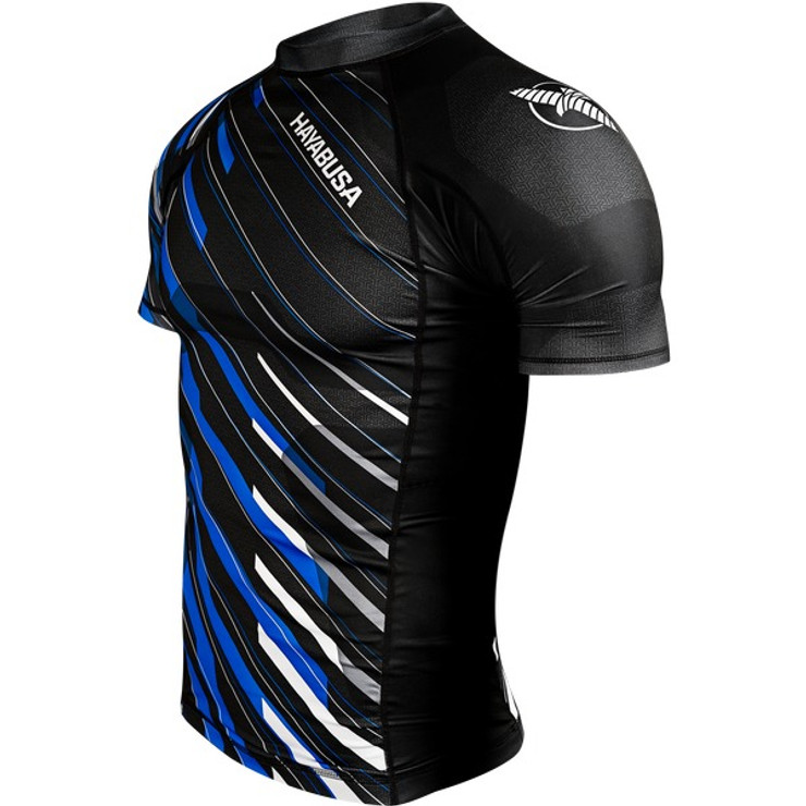 Hayabusa Metaru Charged Short Sleeve Rashguard Black/Blue