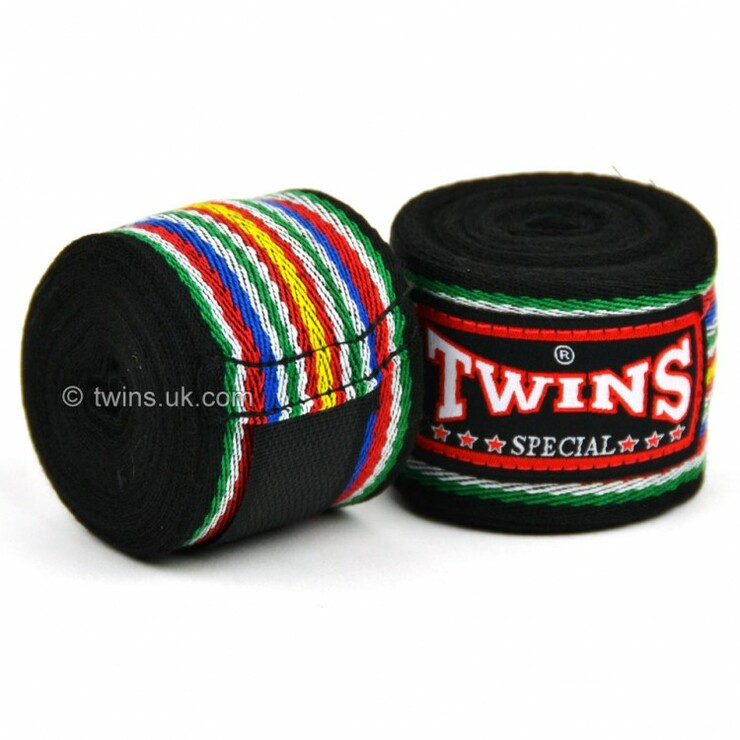 Twins CH-2 Premium Cotton Hand Wraps Black
