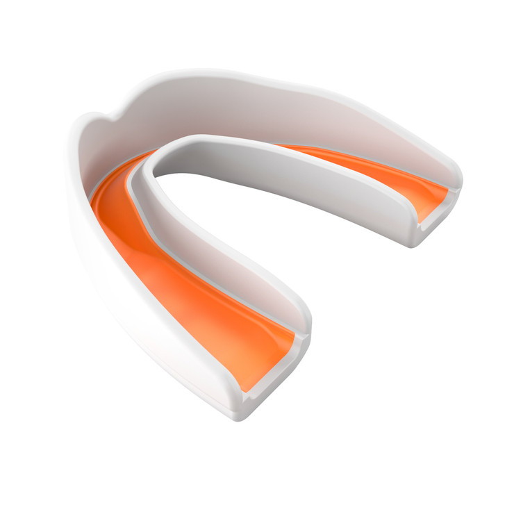 Shock Doctor Multi Sport Mouthguard Adult White/Orange
