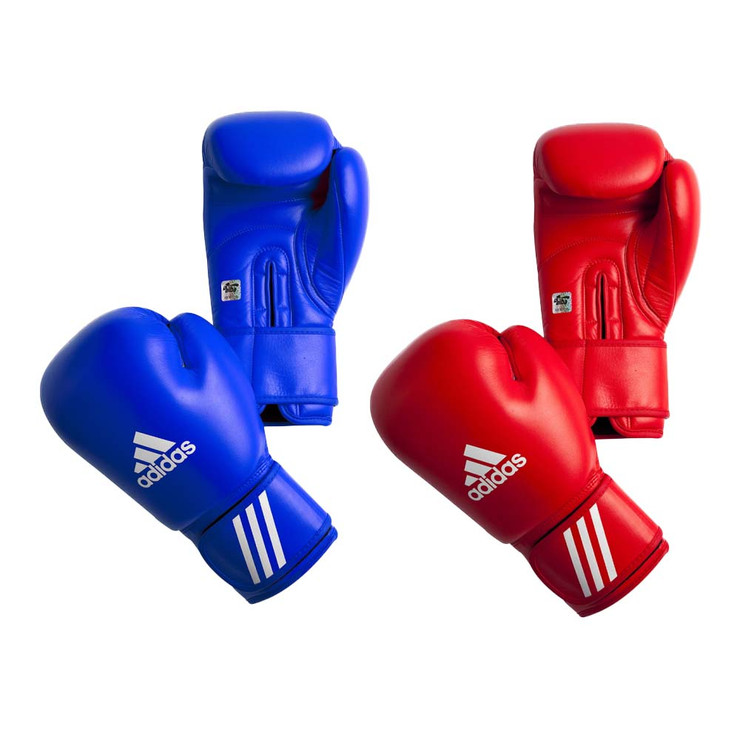 Adidas AIBA Boxing Gloves Red