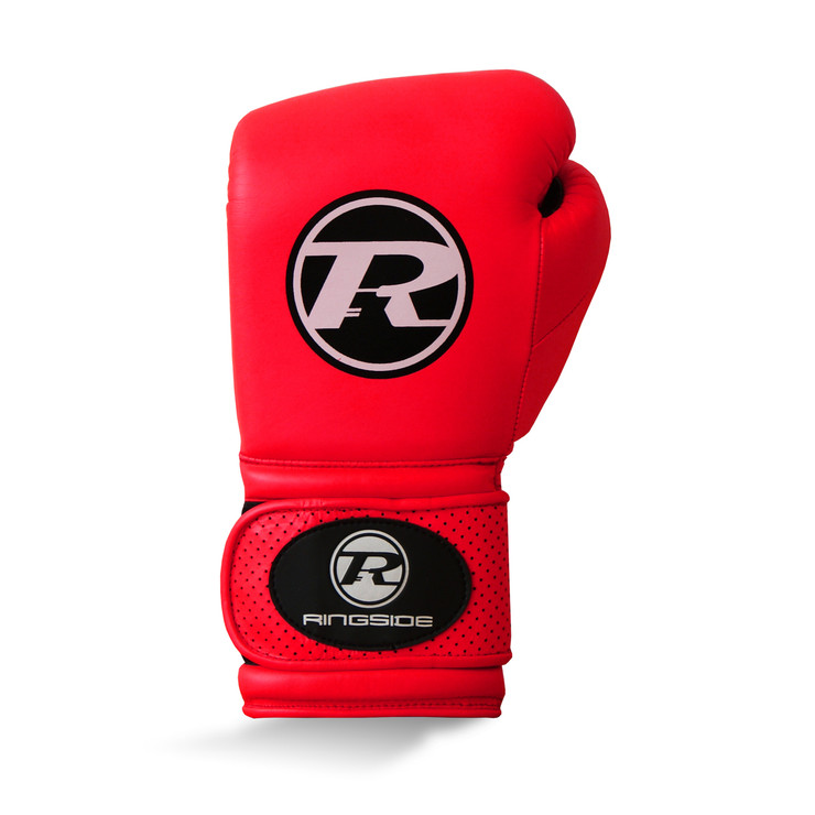 Ringside Neon Revolution Velcro Boxing Gloves Red