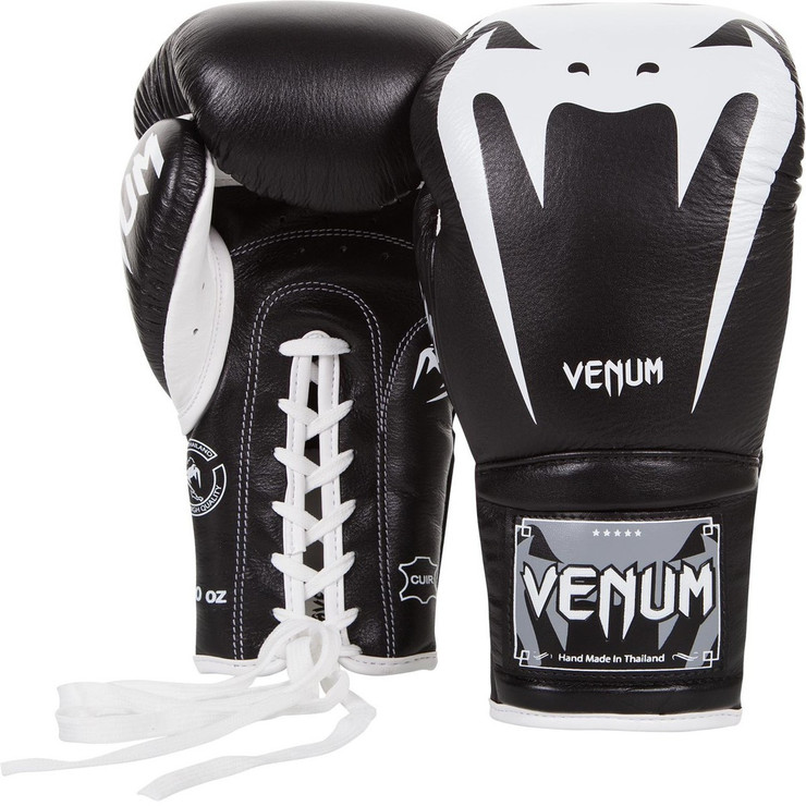 Venum Giant 3.0 Laced Boxing Gloves Black