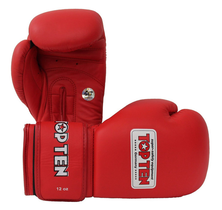 Top Ten AIBA Approved Boxing Gloves 12oz Red