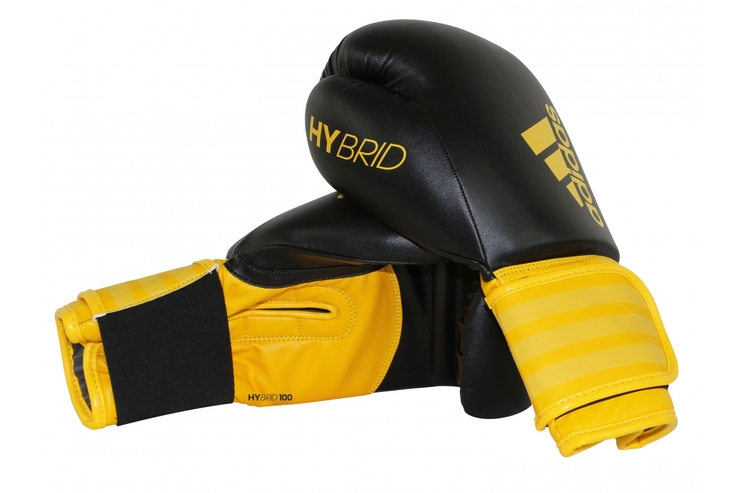Adidas Hybrid 100 Boxing Gloves Black/Yellow