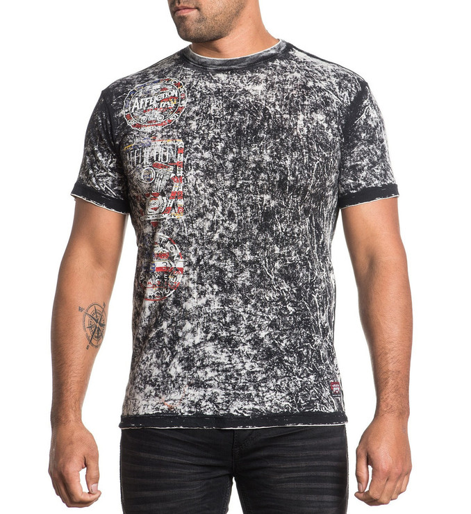 Affliction Crafted Motors Reversible T-Shirt