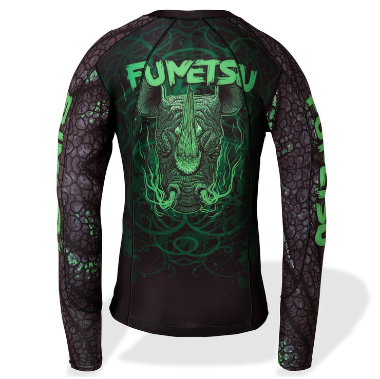 Fumetsu Rampage LS Rash Guard Black/Green