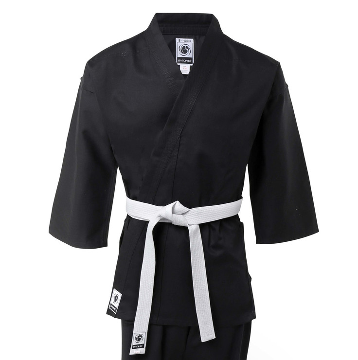 Bytomic Kids 100% Cotton Student Black Karate Uniform