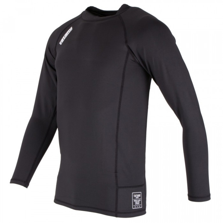 Tatami Fightwear Nova Basic Long Sleeve Rash Guard Black