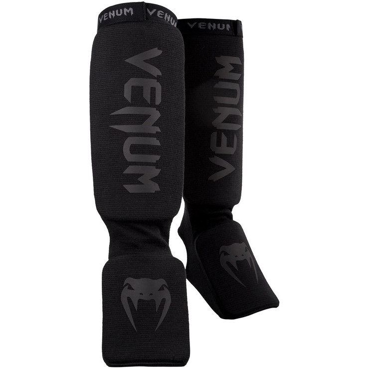 Venum Kontact Shin Instep Guards Black/Black