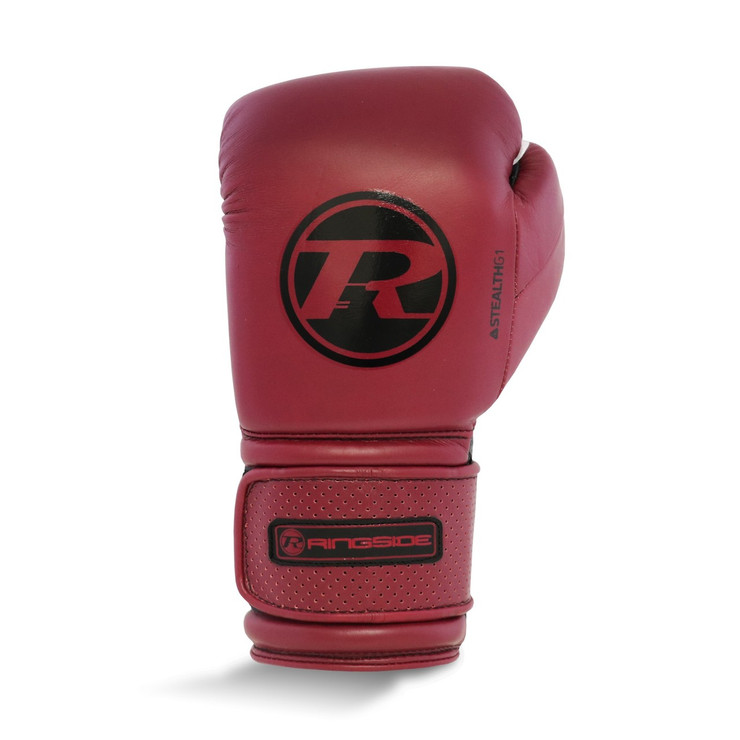 Ringside Stealth Leather Boxing Gloves Maroon Red