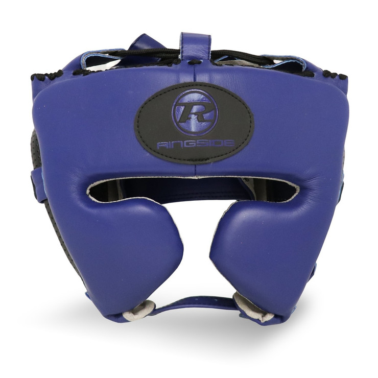 Ringside Stealth Leather Cheek Head Guard Navy Blue