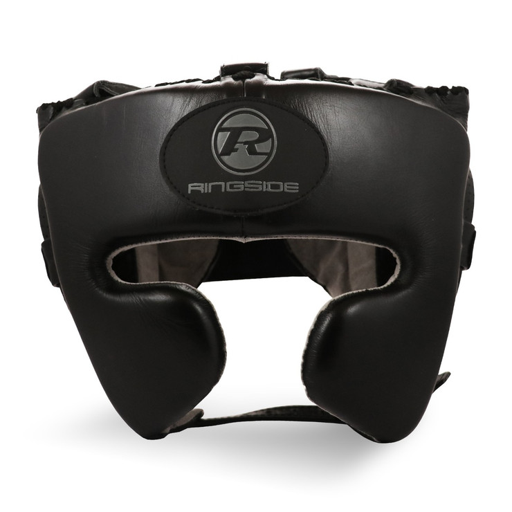 Ringside Stealth Leather Cheek Head Guard Black