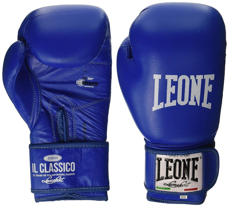 Leone 1947 Classic Boxing Gloves Blue 10oz