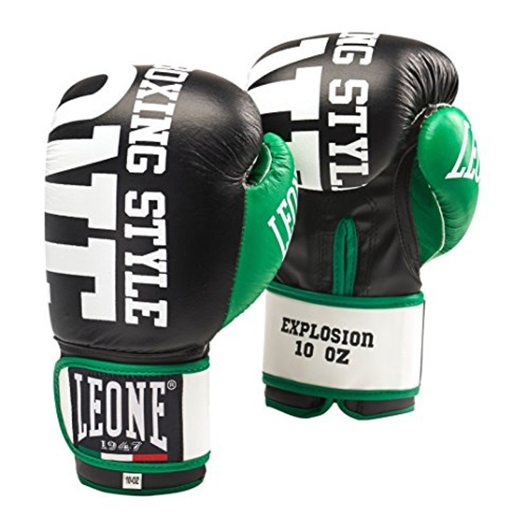 Leone 1947 Explosion Boxing Gloves 10oz Black/Green