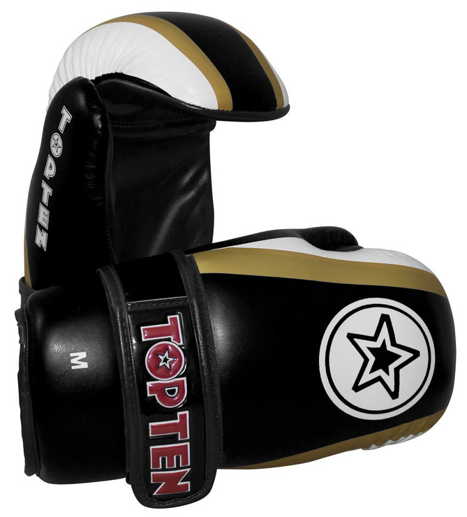 Top Ten Stars And Stripes Pointfighter Gloves Black/White