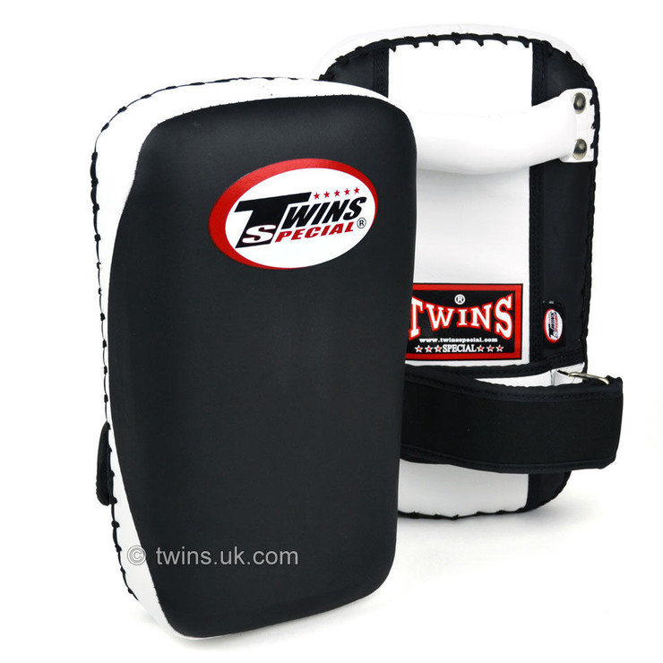Twins KPMC-14 Small Microfibre Kick Pads Black/White