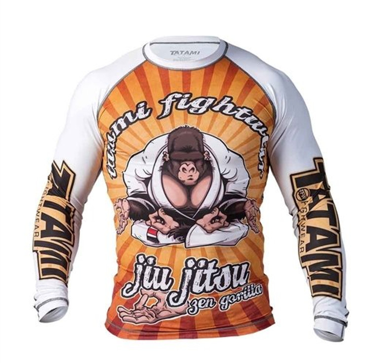 Tatami Fightwear Zen Gorilla Rash Guard White/Orange
