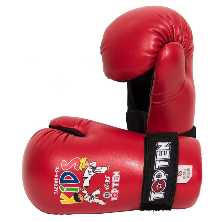 Top Ten Kids Generation ITF Pointfighter Gloves Red
