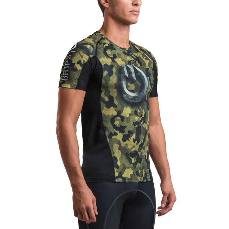 Gr1ps Armadura 2.0 Short Sleeve Rash Guard Camo