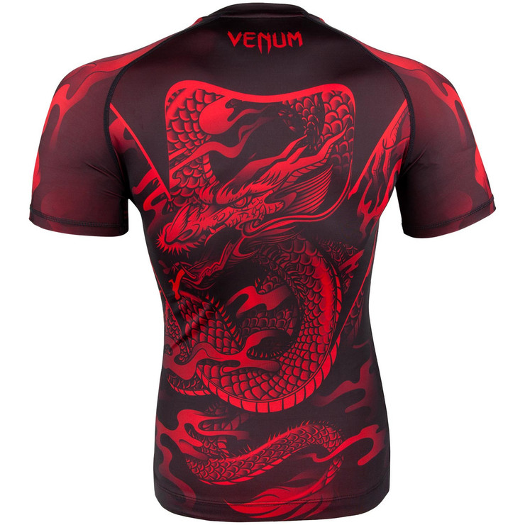 Venum Dragon's Flight Short Sleeve Rash Guard Black/Red