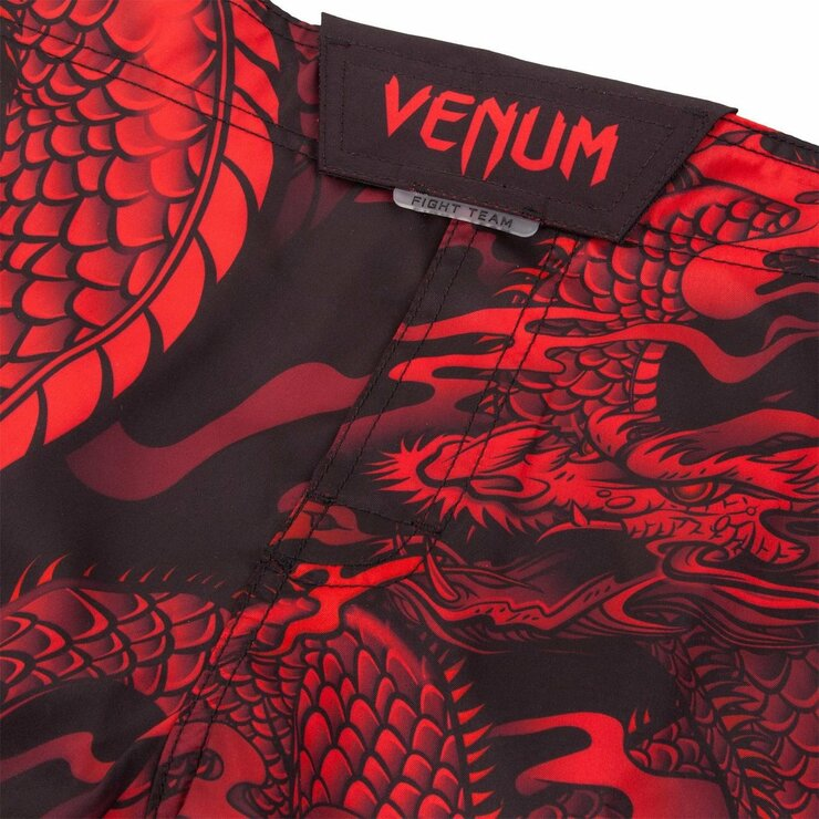 Venum Dragon's Flight Fight Shorts Black/Red