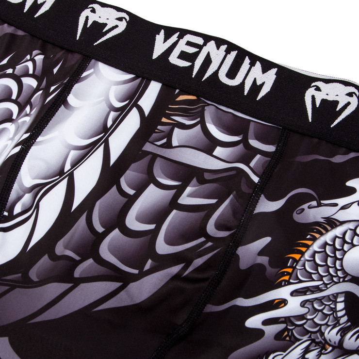 Venum Dragon's Flight Compression Shorts Black/White