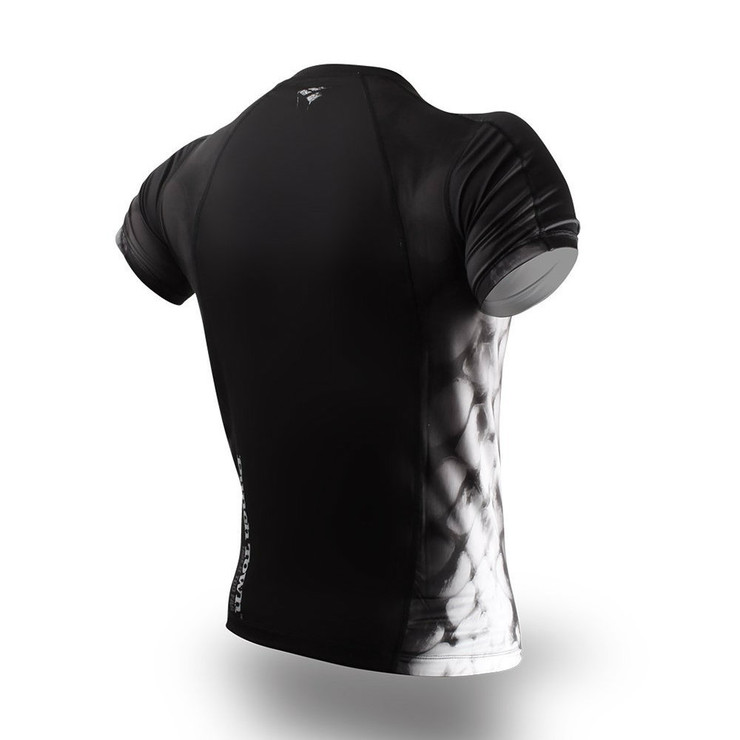 PunchTown Black Crush Short Sleeve Rash Guard