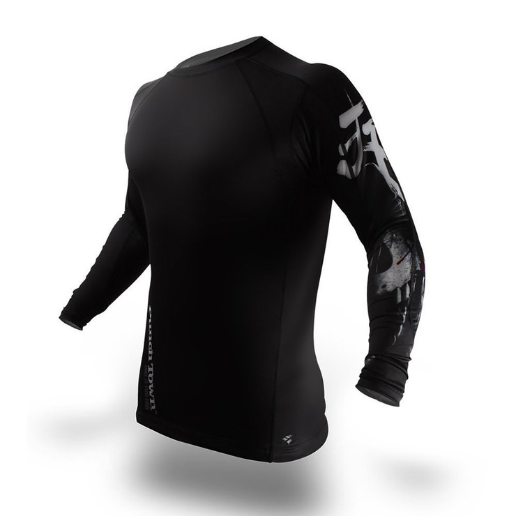 PunchTown Derranged Long Sleeve Rash Guard