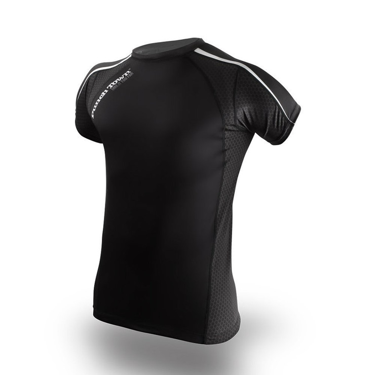 PunchTown Classic Dark Short Sleeve Rash Guard