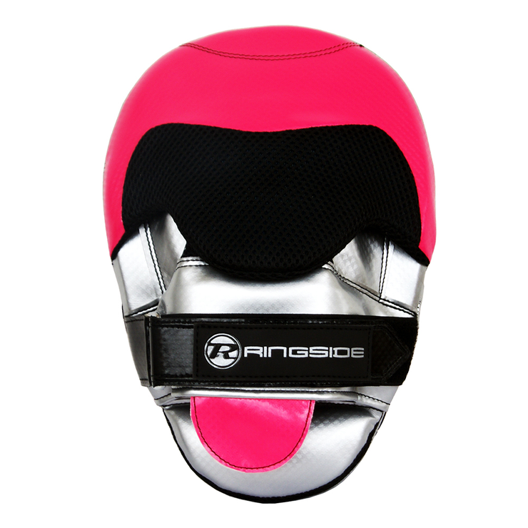 Ringside Pro Fitness Focus Mitts Pink/Silver