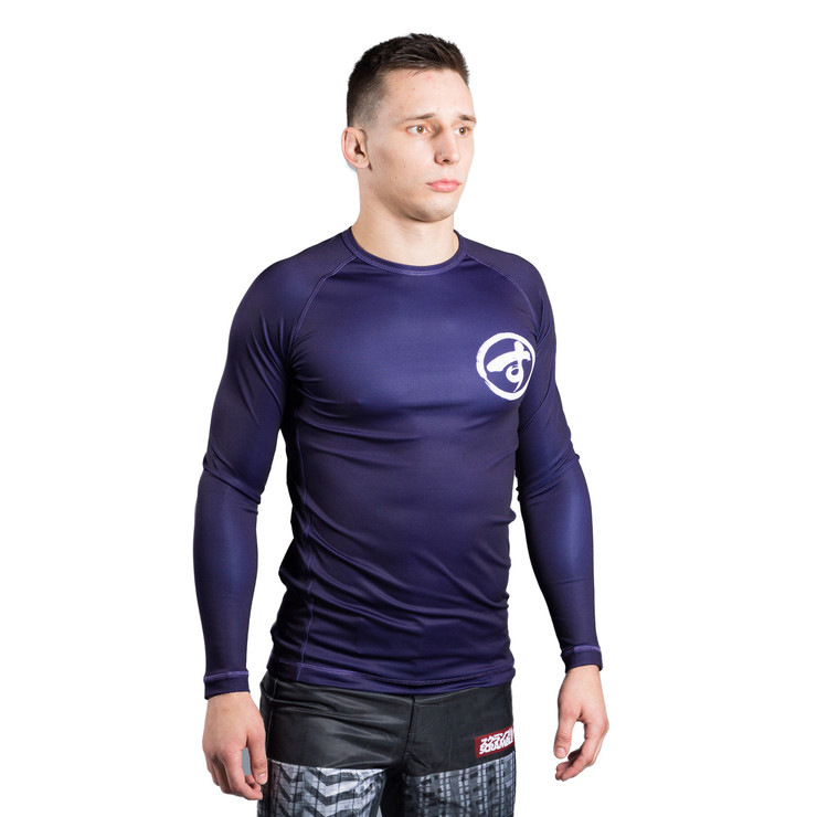 Scramble Brush Logo Long Sleeve Rash Guard