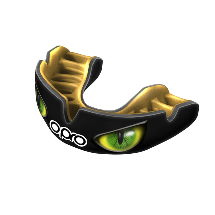 Opro Power Fit Aggression Eyes Mouth guard Black/Gold/Green