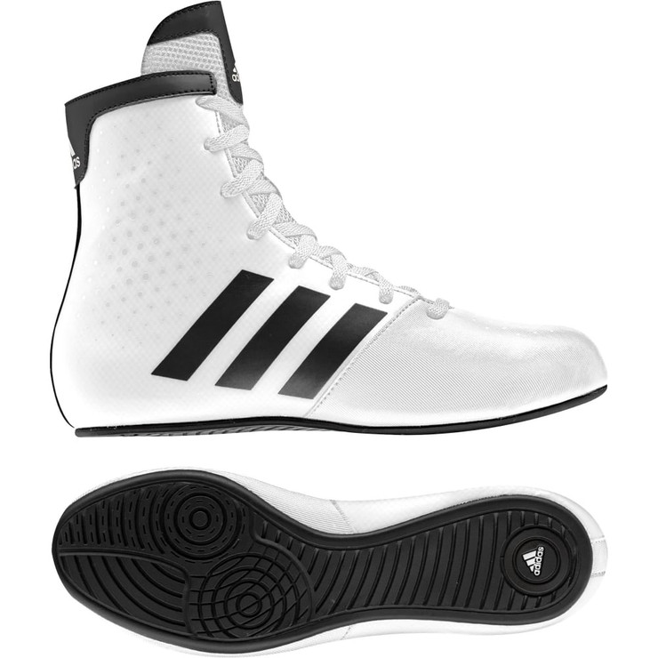 Adidas KO Legends Kids Boxing Boots in White and Black