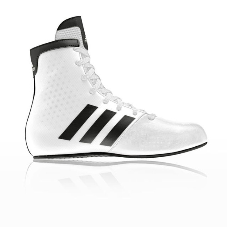 Kids Boxing Boots- Adidas KO Legends in White and Black