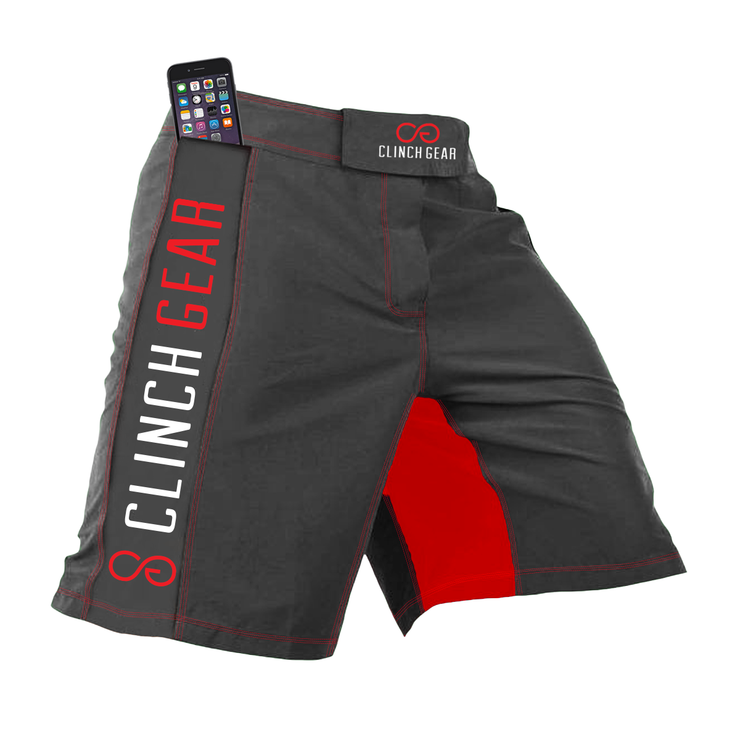 Clinch Gear Crossover 3 Flash Shorts Grey/Red