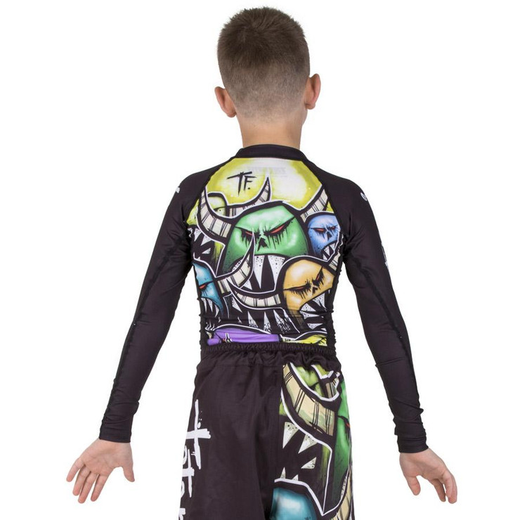 Tatami Fightwear Kids Monsters Long Sleeve Rash Guard