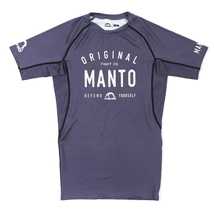 Manto Old School Short Sleeve Rash Guard Grey