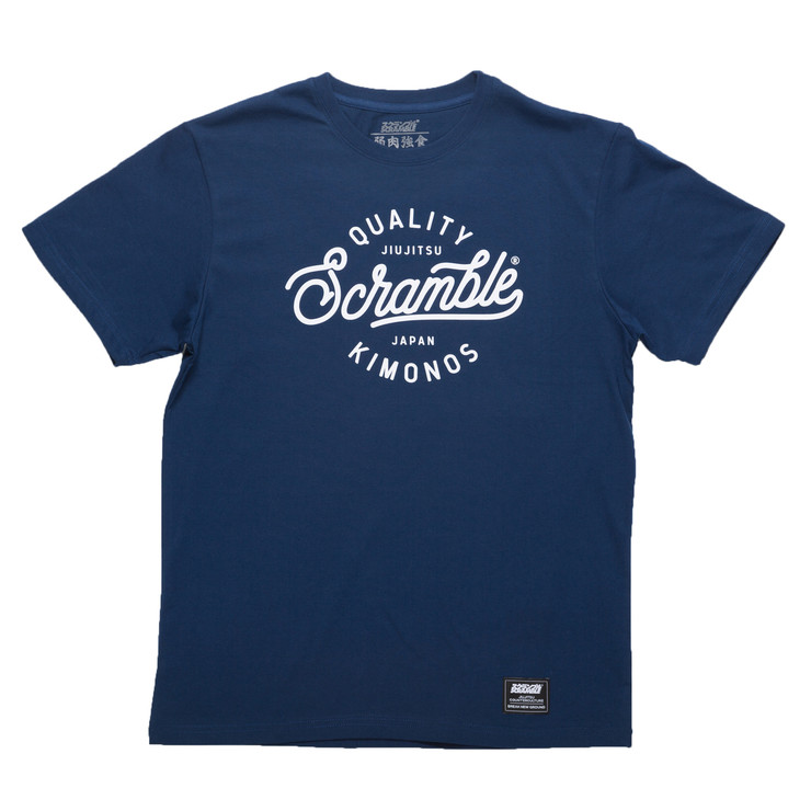 Scramble Quality Kimonos T-Shirt Navy