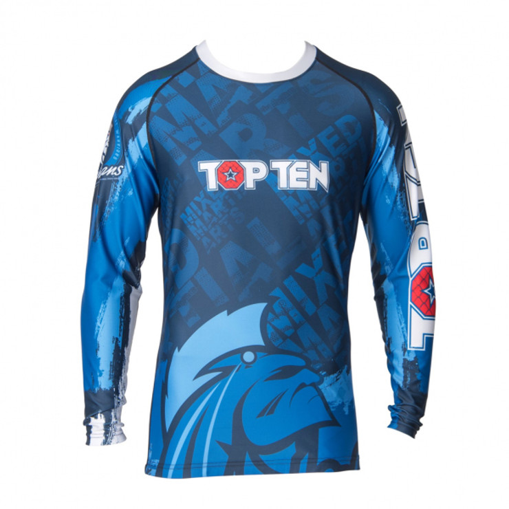 Top Ten Mohicans Long Sleeve Rash Guard
