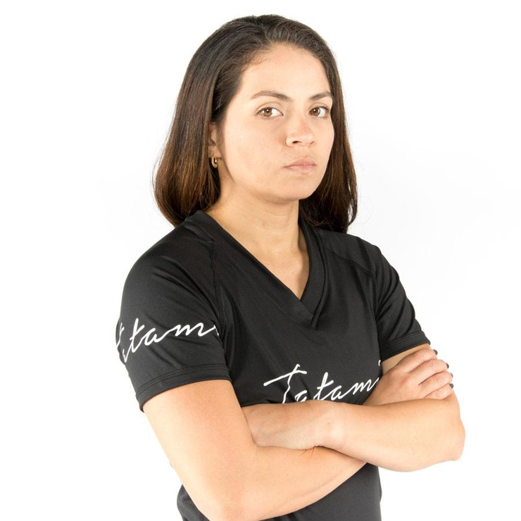Tatami Fightwear Ladies Black Script Rash Guard