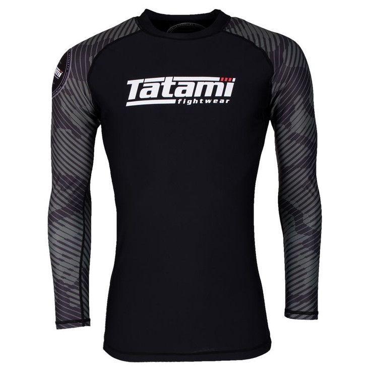 Tatami Fightwear Renegade Camo Long Sleeve Rash Guard Black/Green