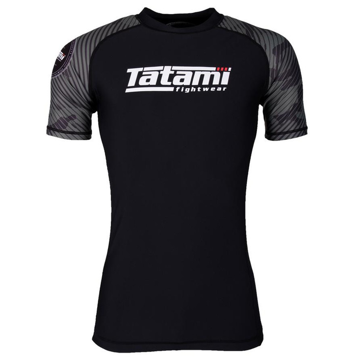 Tatami Fightwear Renegade Camo Short Sleeve Rash Guard Black/Green