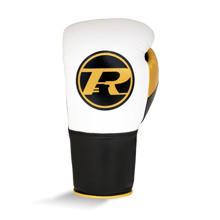 Ringside Pro Contest Boxing Gloves White/Gold