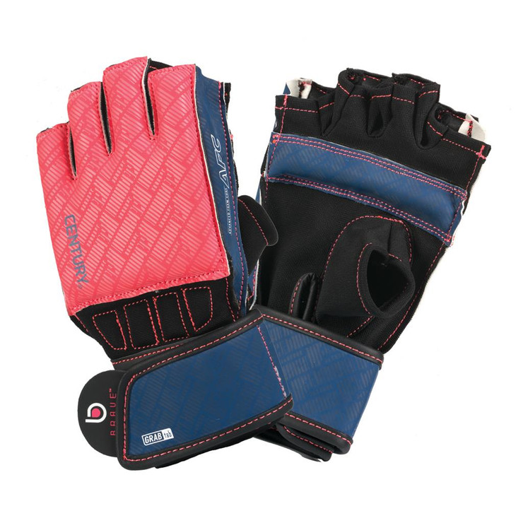 Century Brave Ladies Grip Bar Bag Gloves Coral/Navy